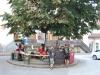 Der Baum spendete Schatten für das extrem fleißige und arbeitsfreudige Team vom Jugendzentrum Westcoast! In diesem Bild etwa (v.l.n.r.): Valentina, Tanja, Jenny, Juri, Emil, Hans, Manuel und Jonas.