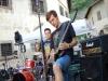 Die Band, hier Drummer Vigil, Basser Mottz und Gitarrist Rage, war einigen zu hart, ...